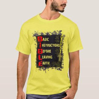 Camiseta BÍBLIA = instruções básicas antes de deixar a