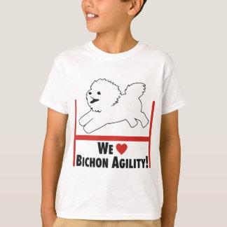 Camiseta Bichon Frise - amor da agilidade de Bichon