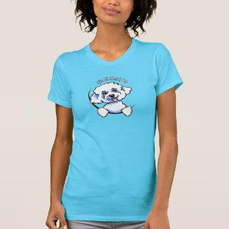 Camiseta Bichon Frise seu toda aproximadamente mim