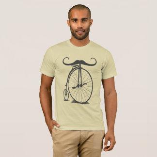 Camiseta Bicicleta alta do bigode do Farthing da moeda de