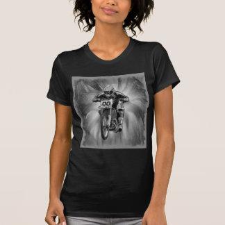 Camiseta Bicicleta da sujeira que sopra com preto/branco