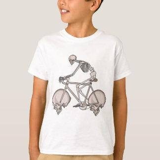 Camiseta Bicicleta de esqueleto da equitação com rodas do