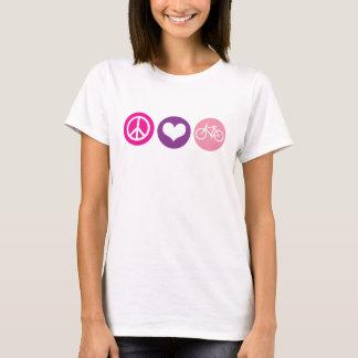 Camiseta Bicicleta do amor da paz, pallette 4 da cor