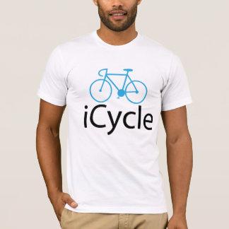 Camiseta bicicleta do azul do iCycle
