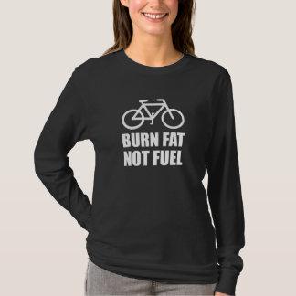 Camiseta Bicicleta do combustível da gordura da queimadura