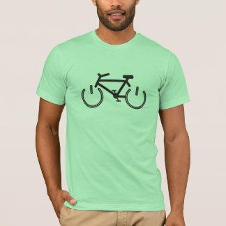 Camiseta Bicicleta do poder preto com bordas brancas