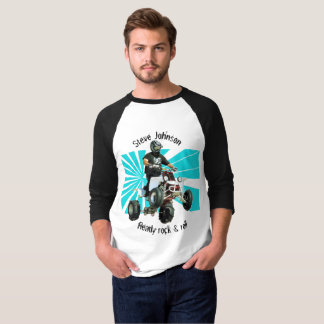 Camiseta Bicicleta do quadrilátero/ATV