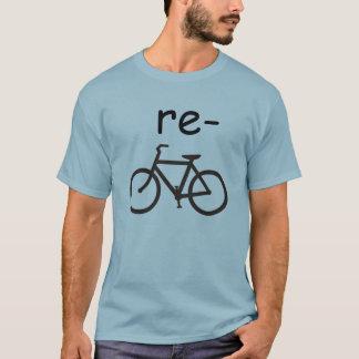 Camiseta Bicicleta do reciclar engraçada