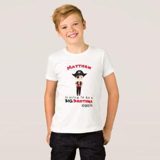 Camiseta Big brother do menino do pirata outra vez