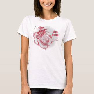 Camiseta BIG LUCK! My heart justamente has exploded!
