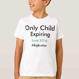 Camiseta #bigbrother de expiração do filho único