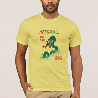 Camiseta Bigfoot CONTRA o monstro de Loch Ness