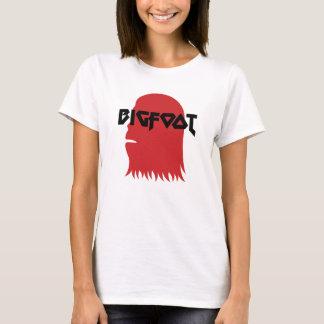 Camiseta Bigfoot enfrentam e o estêncil vermelho e preto do