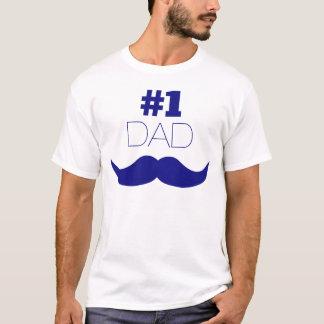 Camiseta Bigode azul do pai #1 - número um