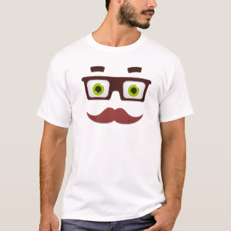 Camiseta Bigode branco do T