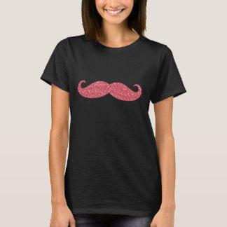 Camiseta Bigode cor-de-rosa do brilho