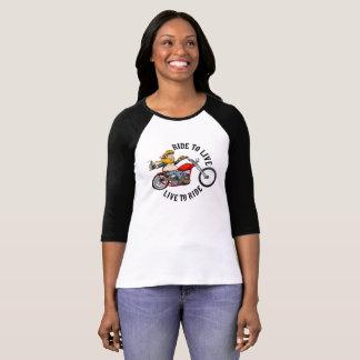 Camiseta Biker motard ride to live