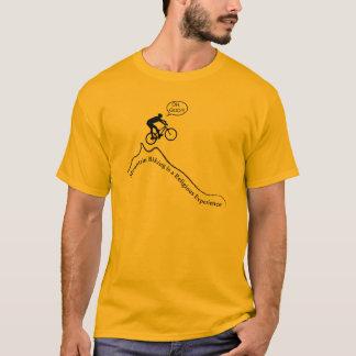 """Camiseta Biking montanha dos homens da """"é uma experiência"""