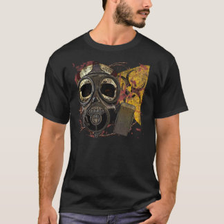 Camiseta Biohazard do crânio de Gasmask