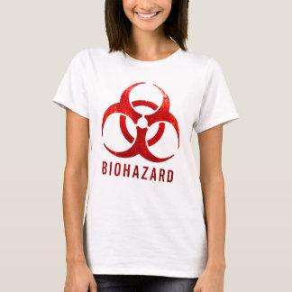 Camiseta Biohazard vermelho