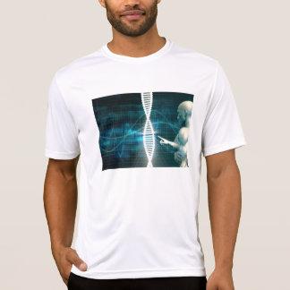 Camiseta Biotecnologia como um fundo do abstrato da