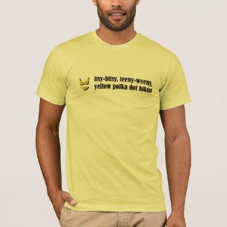 Camiseta Biquini amarelo das bolinhas