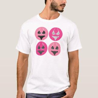 Camiseta Biquini maravilhoso no rosa