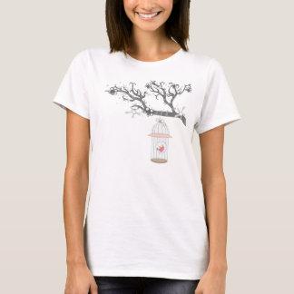 Camiseta birdcage no tshirt do ramo