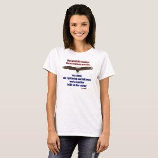 Camiseta Birding e política T - mulheres