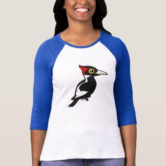 Camiseta Birdorable Marfim-faturou o pica-pau