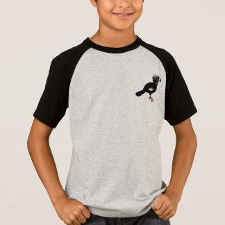 Camiseta Birdorable Preto-fronteou Guan tranqüilo