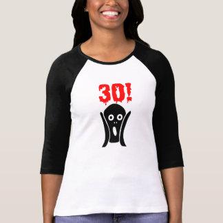 Camiseta Birthday Scary 30th shirt women for