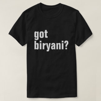 Camiseta biryani obtido?
