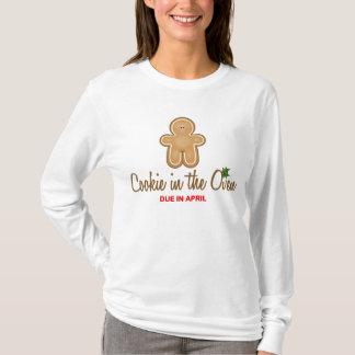 Camiseta Biscoito do Natal no forno devido em abril