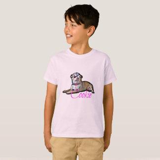Camiseta Biscoito dos desenhos animados de W do t-shirt do
