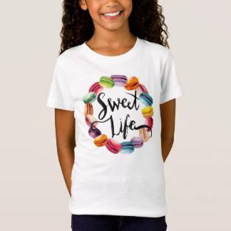 Camiseta Biscoitos doces de Macaron da vida