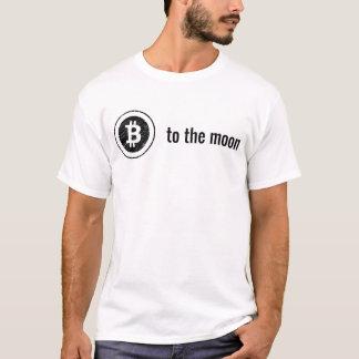 Camiseta Bitcoin ao t-shirt da lua