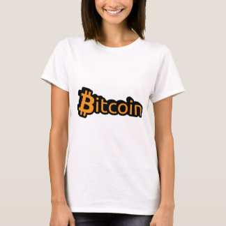 Camiseta Bitcoin dólar escritura