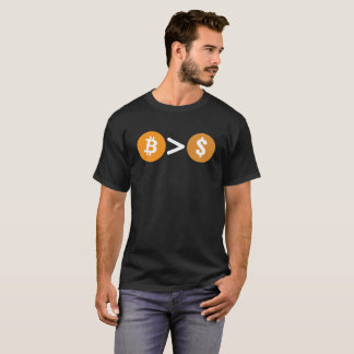 Camiseta Bitcoin é maior do que o Tshirt do símbolo do