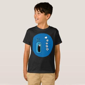 Camiseta Bla Bla Bla! A arte azul da esfera do coelho caçoa