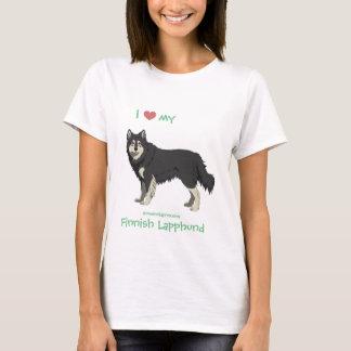 Camiseta Black and white Lapphund finlandesa shirt -