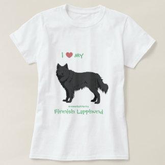 Camiseta black finlandês Lapphund shirt - lapinkoira