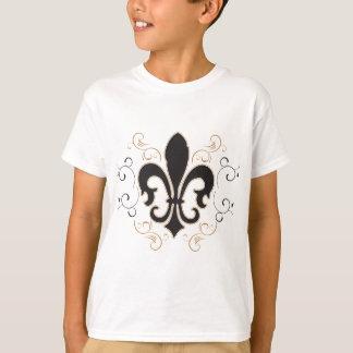 Camiseta black_gold Fleur