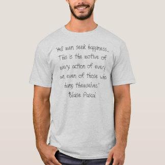 Camiseta Blaise Pascal - felicidade