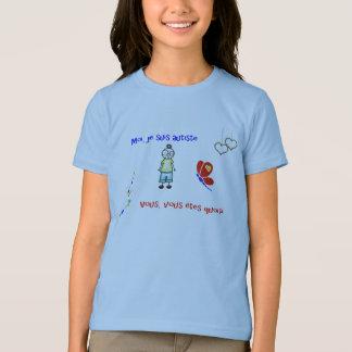 Camiseta Blanc do autiste dos suis do je do Moi do t-shirt
