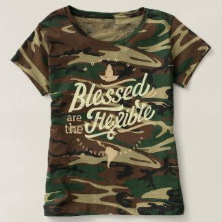 Camiseta Blessed é a camuflagem flexível T