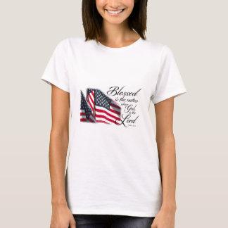 Camiseta Blessed patriótica é a nação