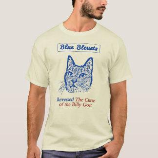 Camiseta Bleuets azul inverteu a praga da cabra de Billy