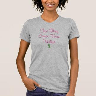 Camiseta Bling verdadeiro vem de dentro de