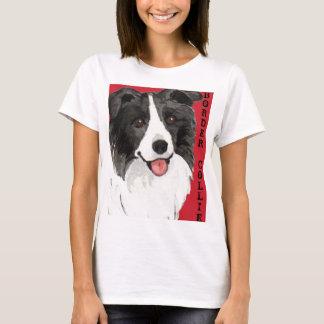 Camiseta Bloco da cor de border collie